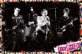 Poster - Sex Pistols  On Stage