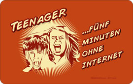 Poster - Fun Teenager ohne Internet