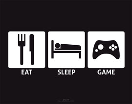 Poster - Eat, Sleep Game