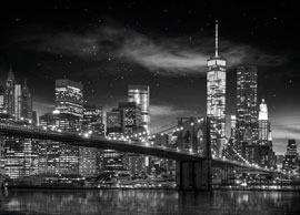 Poster - New York Freedom Tower B&W