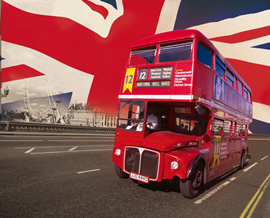 Poster - London Bus Foto-Tapete 232x315