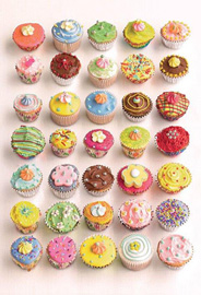Poster - Howard Shooter Cupcakes Foto-Tapete 232x158