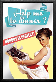 Poster - Vintage Pin-Up Nobody is Perfect