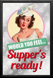 Poster - Vintage Pin-Up Supper