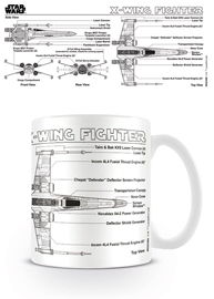 Poster - Star Wars X-wing Fighter Sketch