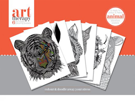 Colouring Poster Art Therapy - Animal