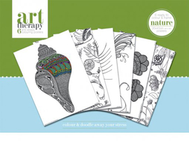 Colouring Poster Art Therapy - Nature