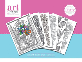 Poster - Colouring Poster Art Therapy - Flower