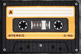 Poster - Cassette Tape  Orange - 80x120cm