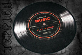 Poster - Record Music - Ø 50cm Play it loud