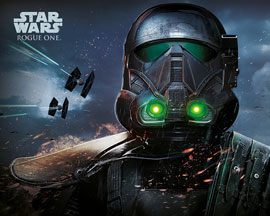 Poster - Star Wars Rogue One - Death Trooper Glow