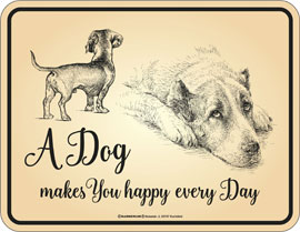 Poster - Hunde Dog makes you happy