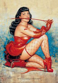 Poster - Bettie Page Don't Tread Me