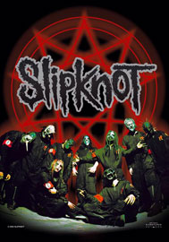 Poster - Slipknot Below Pentagram in Circle