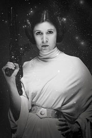 Poster - Star Wars Princess Leia Stars