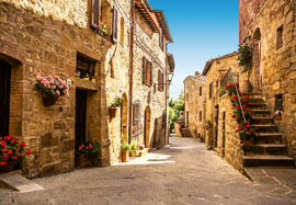 Poster - Italien Foto-Tapete Tuscany Village