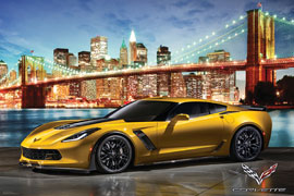 Poster - Corvette Z06 in New York