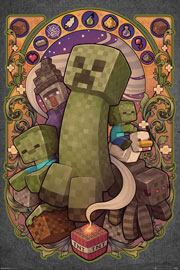 Poster - Minecraft Creeper Nouveau