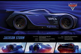 Poster - Cars 3 - Jackson Storm Stats