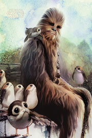 Star Wars - The Last Jedi  Chewbacca & Porgs