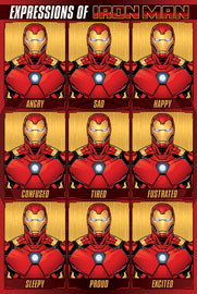 Poster - Avengers Expressions Of Iron Man
