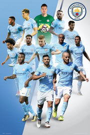 Poster - Fußball Manchester City - Players 17/18