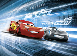 Poster - Cars Disney Foto-Tapete Cars 3 Simulation