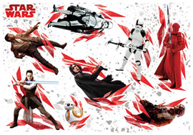 Star Wars - The Last Jedi Star Wars Decosticker Aufkleber