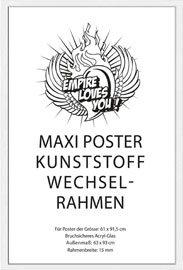 Poster - Rahmen Maxi 61x91,5 cm 15mm Kunststoff weiss