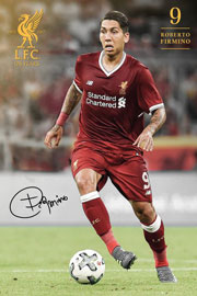 Poster - Fußball Liverpool, FC - Firmino 17/18
