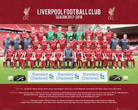 Poster - Fußball Liverpool, FC - Team Photo 17/18