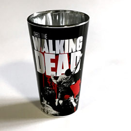 Poster - Walking Dead  - Luxus Edition Chase - verspiegeltes Luxus Metallic-Look Glas 500 ml, H15cm Ø9cm