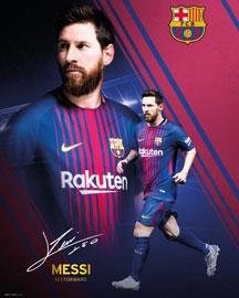 Poster - Fußball Barcelona, FC - Messi Collage 17/18