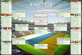 Poster - Fußball Plan del partidos - Russia 2018