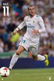 Poster - Fußball Real Madrid - Bale Action 17/18