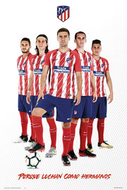 Poster - Fußball Atletico Madrid - Players Stand 17/18