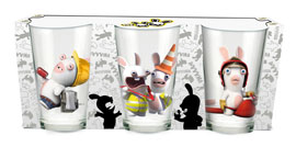 Poster - Glas-Set Rabbids Invasion