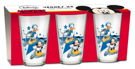 Poster - Glas-Set Mickey, Donald
