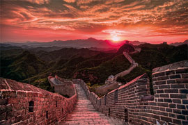Städte Great Wall Of China, The - Sunset