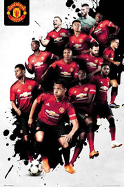 Poster - Fußball Manchester United - Players 18/19