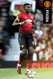 Poster - Fußball Manchester United - Pogba 18/19
