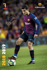Poster - Fußball Barcelona, FC - Coutinho - Action 18/19