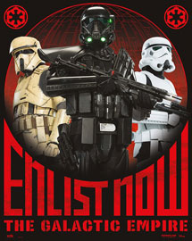 Poster - Star Wars Rogue One - Enlist Now