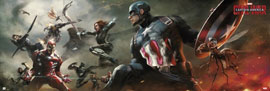 Poster - Captain America Civil War - Action