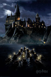 Poster - Harry Potter Hogwarts - Boats