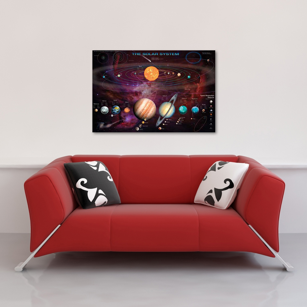 Space And Universe - Poster - Solar System Vorschau Sofa