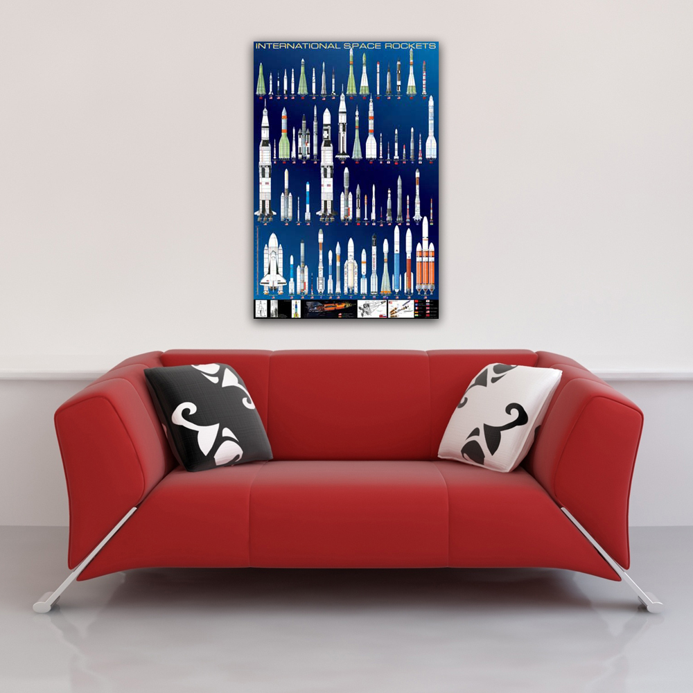 Educational - Bildung - Poster - International Space Rockets Raketen  Vorschau Sofa