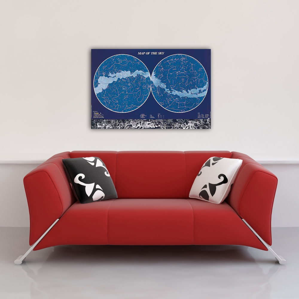 Educational - Bildung - Poster - Map of the Sky Himmel  Vorschau Sofa