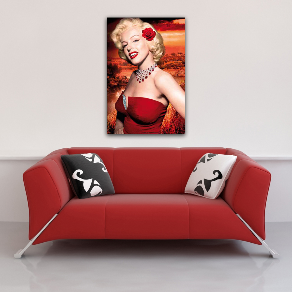 Marilyn Monroe - Poster - Red Dress Vorschau Sofa