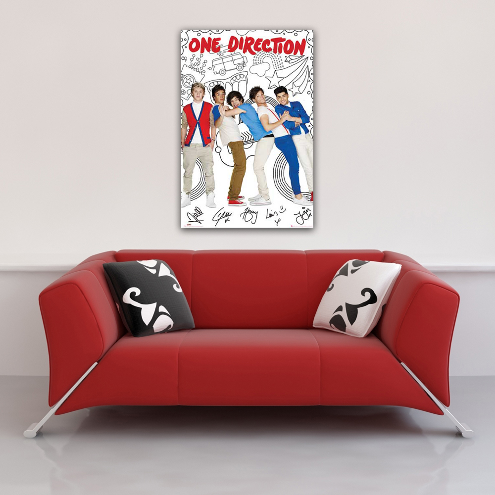 One Direction - Poster - Cartoon Vorschau Sofa